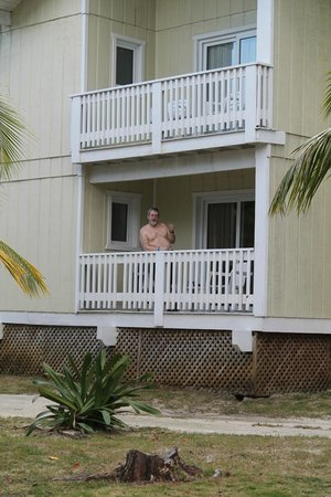 Fantasy Island Beach Resort:                   Our balcony with a view on the snorkeling beach