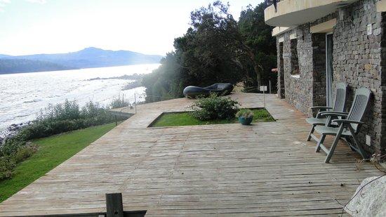 Apart Hotel Cabanas Balcon al Lago:                   vista desde la casa