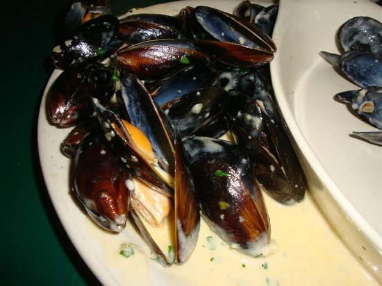 Romano's On The Beach : mussels in garlic cream sauce