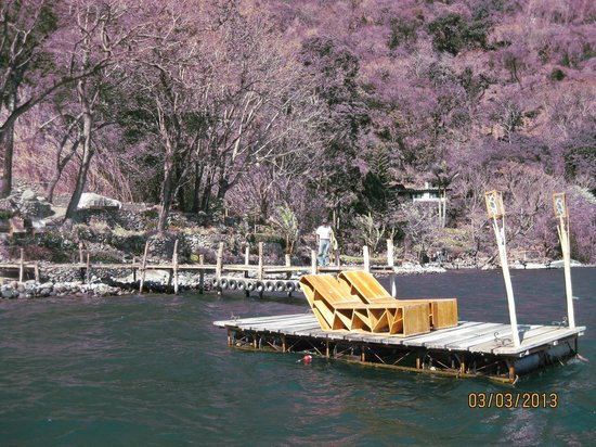 La Fortuna at Atitlan:                                                       Floating dock with Sun Loungers