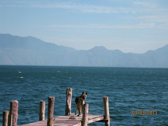 La Fortuna at Atitlan:                                                       Dock with the lovely Sascha