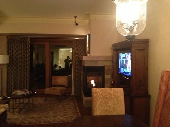 The St. Regis Deer Valley:                                     suite living room
