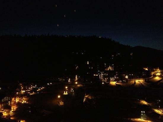 The St. Regis Deer Valley:                                     View from hotel a night