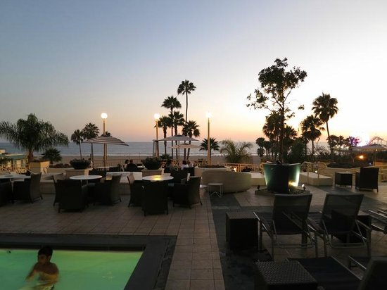 Loews Santa Monica Beach Hotel:                   Sunsets on the pool deck are an awesome way to chill out