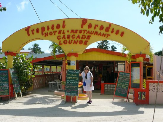 Caye Caulker: The restaurant where we had lunch.