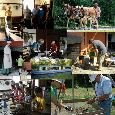 Johnston Farm & Indian Agency: Collage of happenings at the Johnston Farm