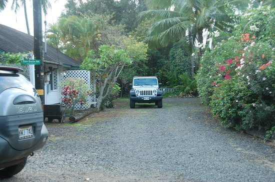 Fern Grotto Inn:                   The Coco Cottage private driveway and parking