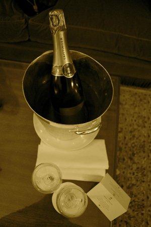 Hotel de Crillon: welcome coctail