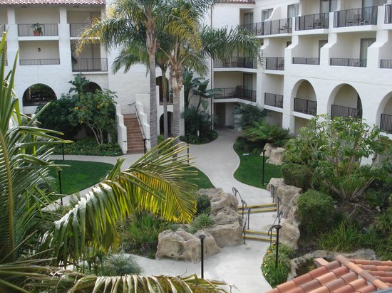Hyatt Regency Huntington Beach Resort & Spa:                                     Birds, Birds and Hummingbirds, tiki torches at night