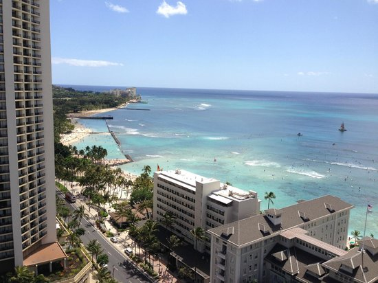 Sheraton Princess Kaiulani: View from our room on 24th floor