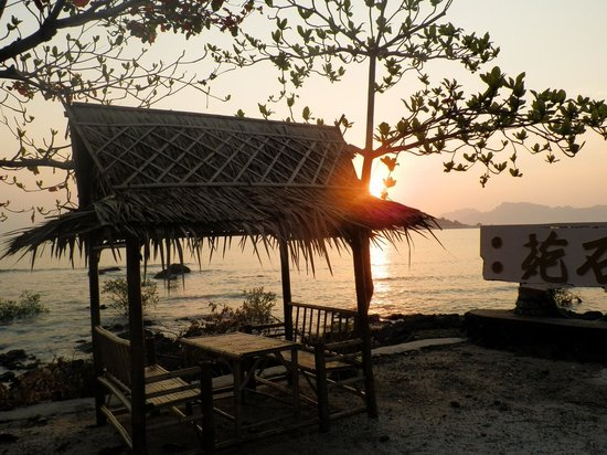 Don Sak, Thailand: Sunrise from the bungalow