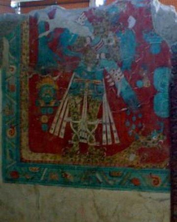 The Cacaxtla-Xochitecatl Archeological Site :                   Cacaxtla prehispanic mural, Mexico