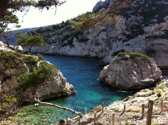 Calanque de Morgiou:                   climbing the calanque