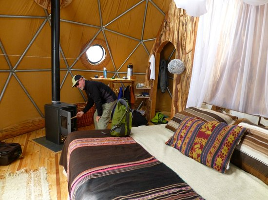 Ecocamp Patagonia:                   Dome tent