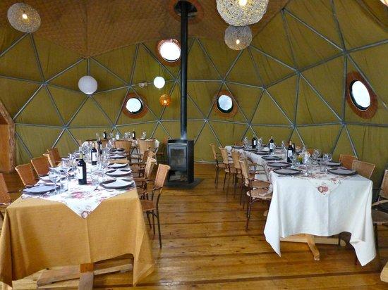 Ecocamp Patagonia:                   Dining