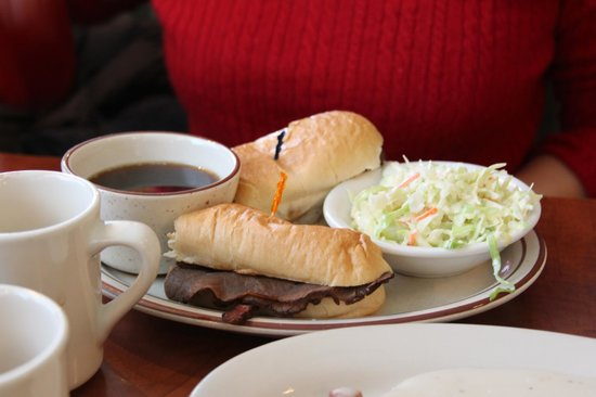 Evergreen Cafe & Racoon Saloon: French dip