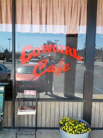 Cowgirl Cafe :                   You're in the right place, now get some ham, biscuits and gravy!