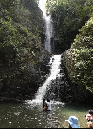 Tibiao, Philippines:                   the first and second falls
