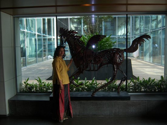 Swissotel Kolkata:                                     waiting for lift