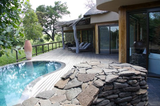 Singita Boulders Lodge:                   Private deck with pool