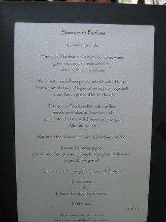 Hostellerie Le Castellas :                                     Degustation Menu