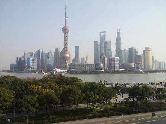 The Peninsula Shanghai:                                     View from the room