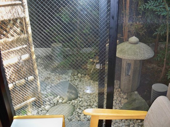 Matsubaya Inn:                   looking out to small private garden