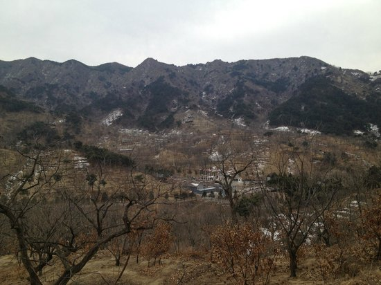 Brickyard Retreat at Mutianyu Great Wall:                                     View of the local area in winter