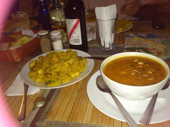 Hotel Windsurf Paradise:                                     Muy Rica la paella a la marinera y la fosforera