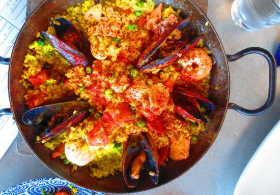 The Rocks:                   Main course Paella