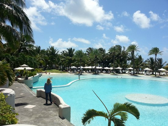 LUX Le Morne:                                     Main pool at Lux* Belle Mare