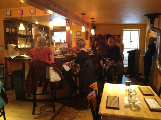 Ginger Cafe :                   Bar area of this small & quaint restaurant in a 100 year old building