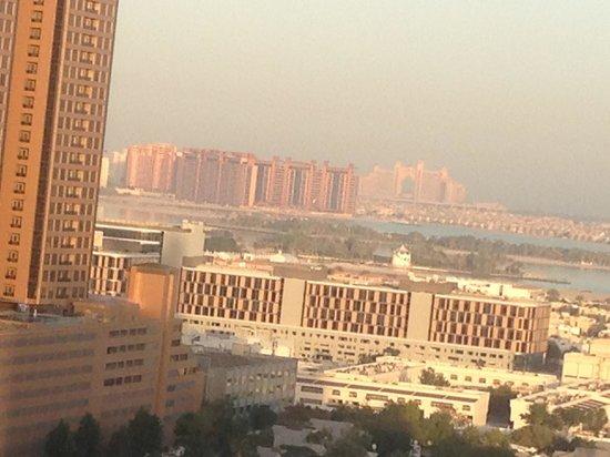 Grand Millennium Dubai:                   View from the Balcony.