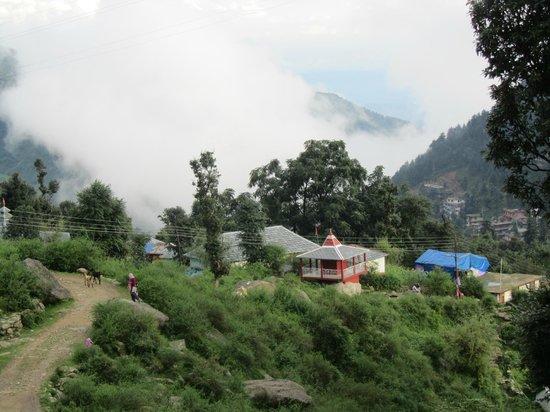 Shivalay Hotel:                   view from the balcony
