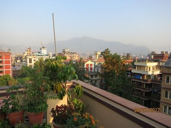 Hotel Thamel:                                     roof garden of Thamel Hotel