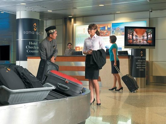 Sama-Sama Hotel KL International Airport: Airport Check In Counter at KLIA