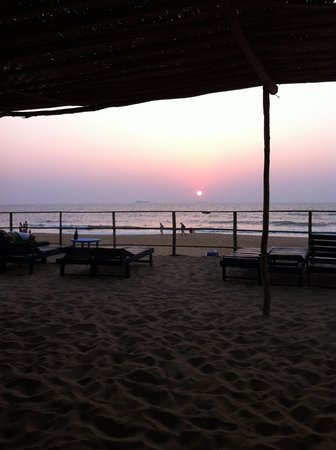 Bougainvillea Guest House Goa:                   View from Calamari beach restaurant