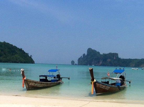 Phi Phi Island Village Beach Resort:                   Long boats (local taxis)