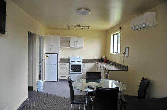 All Seasons Holiday Park Rotorua : salle à manger cuisine
