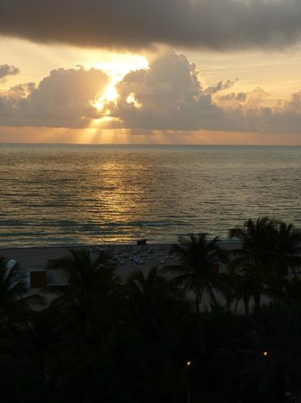 Loews Miami Beach Hotel:                                     Sunrise from the room