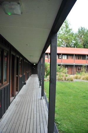 The Park Hotel Ruapehu : couloir extérieur