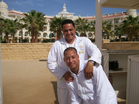 Premier Romance Boutique Hotel and Spa:                   Ahmed and Ibrahim at the beach