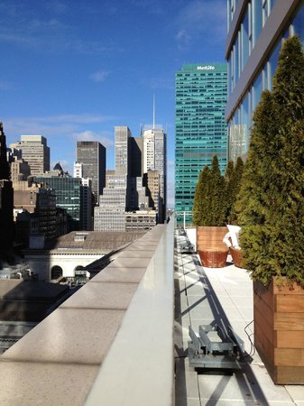 Andaz 5th Avenue:                   Terrace view Andaz 5th Ave