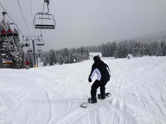 Copper Mountain Ski Area:                   More wide runs and the lift.
