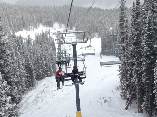 Copper Mountain:                   On the lift!