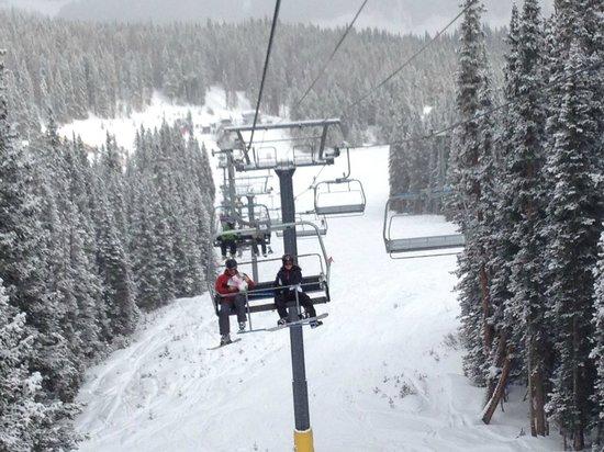 Copper Mountain Ski Area:                   On the lift!                 