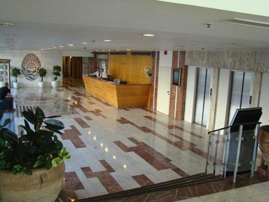 Grand Beach Hotel:                   Lobby at 11:00 am