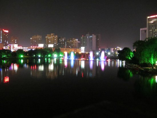 Crowne Plaza Hotel:                   Nanhu Lake in front of the hotel
