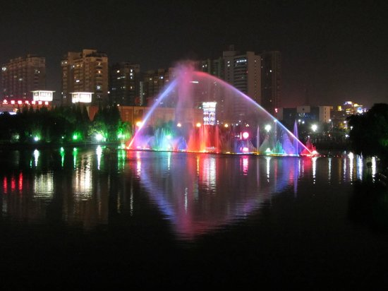 Crowne Plaza Hotel :                   Nanhu Lake in front of the hotel
