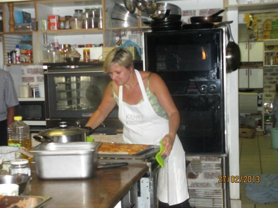 Kilzer's Kitchen:                   Jenny at work - cheese straws for the first course